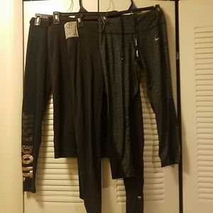 Nike and VS Lot of 4 Black Athletic Pants S